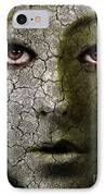 Creepy Cracked Face With Tears IPhone Case