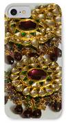 Cross Section Of A Purple And Yellow Gold Beautiful Necklace IPhone Case by Ashish Agarwal