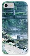 Cross The Stream IPhone Case by Debra     Vatalaro