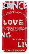 Dance Like Nobody's Watching - Red IPhone Case by Georgia Fowler