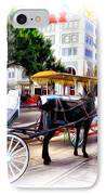 Decatur Street At Jackson Square IPhone Case by Bill Cannon