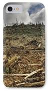 Deforested Area IPhone Case by Ned Frisk