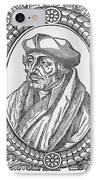 Desiderius Erasmus, Dutch Theologian IPhone Case by Middle Temple Library
