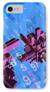 Digital Communication, Conceptual Image IPhone Case