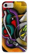 Dinner With Wine IPhone Case by Leon Zernitsky
