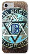 Dodge Brothers Badge IPhone Case by Steve McKinzie