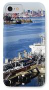 Downtown Vancouver Seen From Dockside IPhone Case by Jeremy Woodhouse