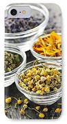 Dried Medicinal Herbs IPhone Case by Elena Elisseeva