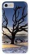 Driftwood Beach At Dawn IPhone Case by Debra and Dave Vanderlaan