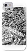 Driftwood Black Cat IPhone Case by Jack Pumphrey