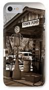 Early Gas Station IPhone Case by Douglas Barnett