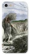 Early Humans Harvesting Crops IPhone Case