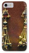 Earrings With Garnets IPhone Case by Andonis Katanos