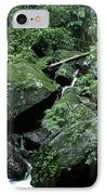 El Yunque National Forest Rocks And Waterfall IPhone Case by Thomas R Fletcher