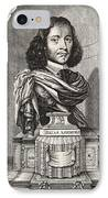 Elias Ashmole, English Antiquary IPhone Case by Middle Temple Library
