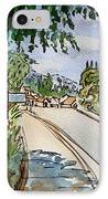 Empty Road Sketchbook Project Down My Street IPhone Case by Irina Sztukowski