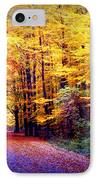 Enchanted Fall Forest IPhone Case by Carol Groenen