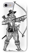 English Archer, 1634 IPhone Case by Granger
