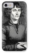 Engraving Of Nicolas Copernicus, Polish Astronomer IPhone Case by Dr Jeremy Burgess
