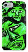 Faces - Green IPhone Case