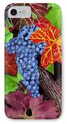 Fall Cabernet Sauvignon Grapes IPhone Case by Mike Robles