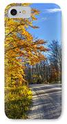 Fall Forest Road IPhone Case by Elena Elisseeva