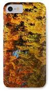 Fall Textures In Water IPhone Case by LeeAnn McLaneGoetz McLaneGoetzStudioLLCcom