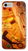 Fashion Old Dress Pattern IPhone Case by Garry Gay