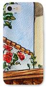 Fence And Roses Sketchbook Project Down My Street IPhone Case by Irina Sztukowski
