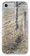 Fenceline And Cropland In Late Fall IPhone Case by Darwin Wiggett
