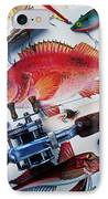 Fish Bookplates And Tackle IPhone Case by Garry Gay