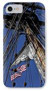 Flag In The Rigging IPhone Case by Garry Gay