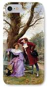 Flirtation IPhone Case by Georges Jules Auguste Cain