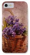 Flower Basket IPhone Case by Judi Bagwell