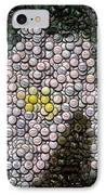 Flower Bottle Cap Mosaic IPhone Case by Paul Van Scott