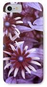 Flower Rudbeckia Fulgida In Uv Light IPhone Case by Ted Kinsman