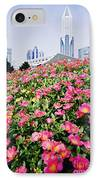 Flowers And Architecture Around Peoples Square IPhone Case