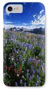 Flowers With Tattosh Mountains, Mt IPhone Case