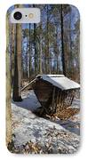 Food Point For Animals In Winterly Forest IPhone Case by Matthias Hauser