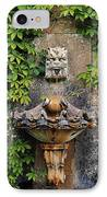 Fountain In The Walled Garden, Florence IPhone Case by The Irish Image Collection