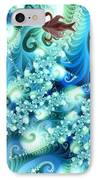 Fractal And Swan IPhone Case by Odon Czintos