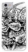 Frost On Leaves, Woodcut IPhone Case by Gary Hincks