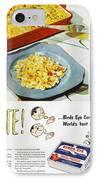Frozen Food Ad, 1947 IPhone Case