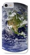 Full Earth Showing North America White IPhone Case