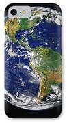 Full Earth Showing The Western IPhone Case