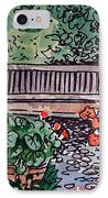 Garden Bench Sketchbook Project Down My Street IPhone Case by Irina Sztukowski