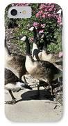 Garden Geese Parade IPhone Case