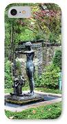 Garden Statuary IPhone Case by Kristin Elmquist