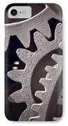 Gears Number 1 IPhone Case by Steve Gadomski