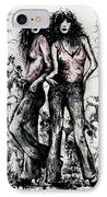 Genes And Roses IPhone Case by Rachel Christine Nowicki